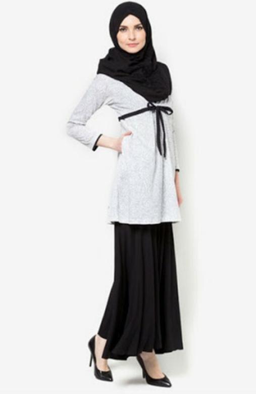 Model Baju Kerja Kantor Muslimah Modern