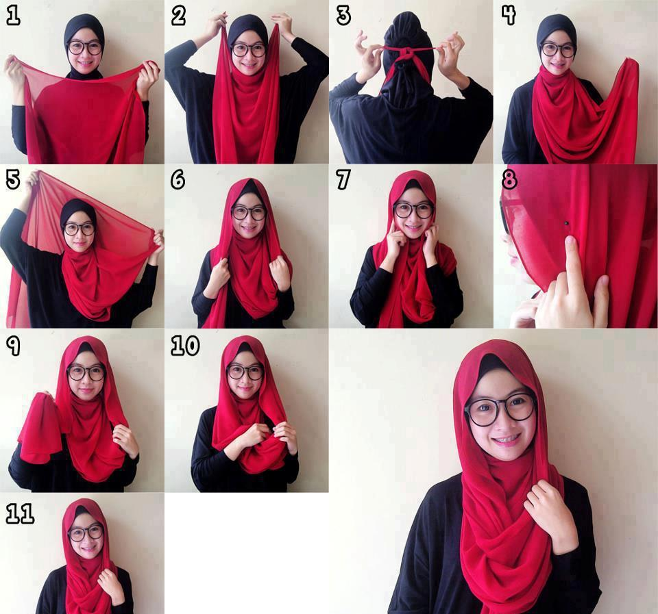 Tutorial Hijab Untuk Wajah Bulat Tetap Cantik Bagi Si Round Face