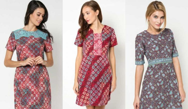 model baju long dress batik